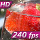 Strawberry Rotates in a Glass with Water - VideoHive Item for Sale