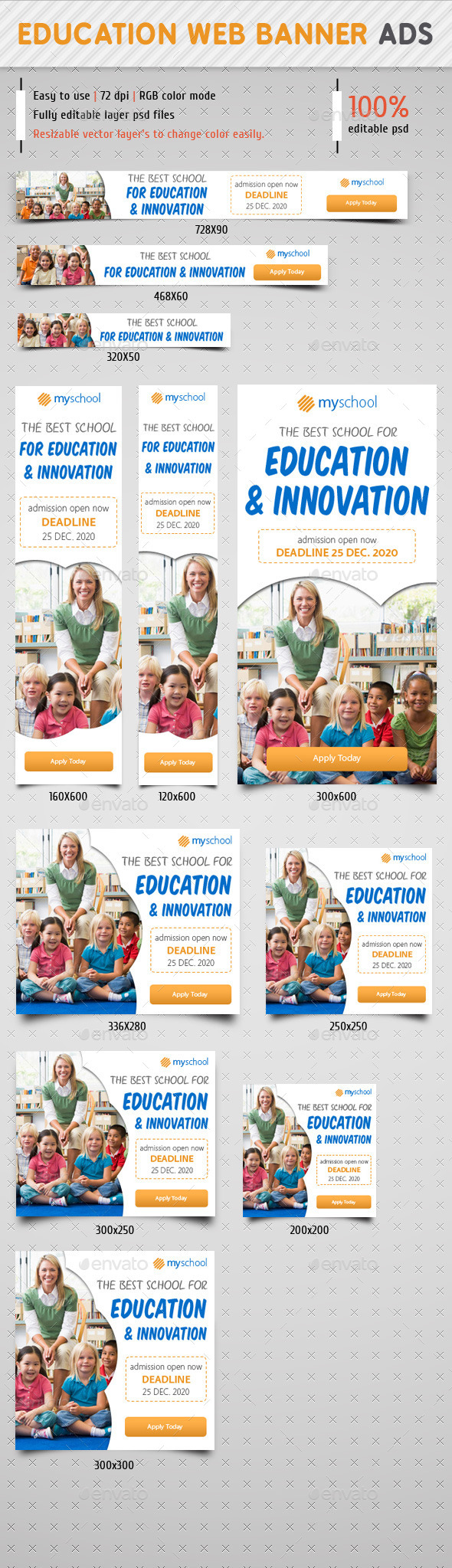 GraphicRiver Education Web Banner Ads 9068258
