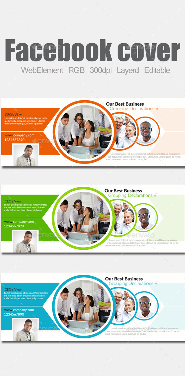 GraphicRiver Multi Purpose Facebook Covers 9068441
