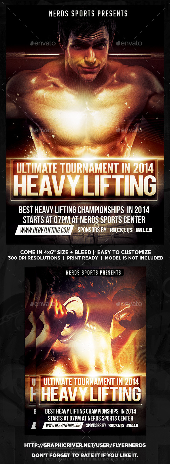 GraphicRiver Heavy Lifting Championships Flyer 9068497