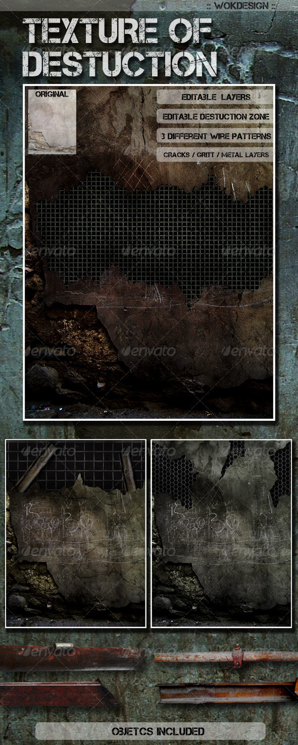 GraphicRiver Destructible Wall Background Texture 926012