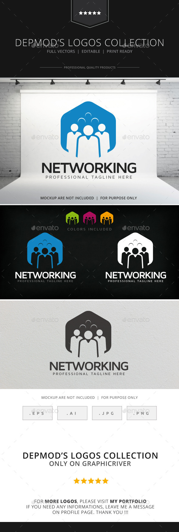 GraphicRiver Networking Logo 9068548