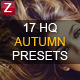 17 HQ Autumn Presets - GraphicRiver Item for Sale