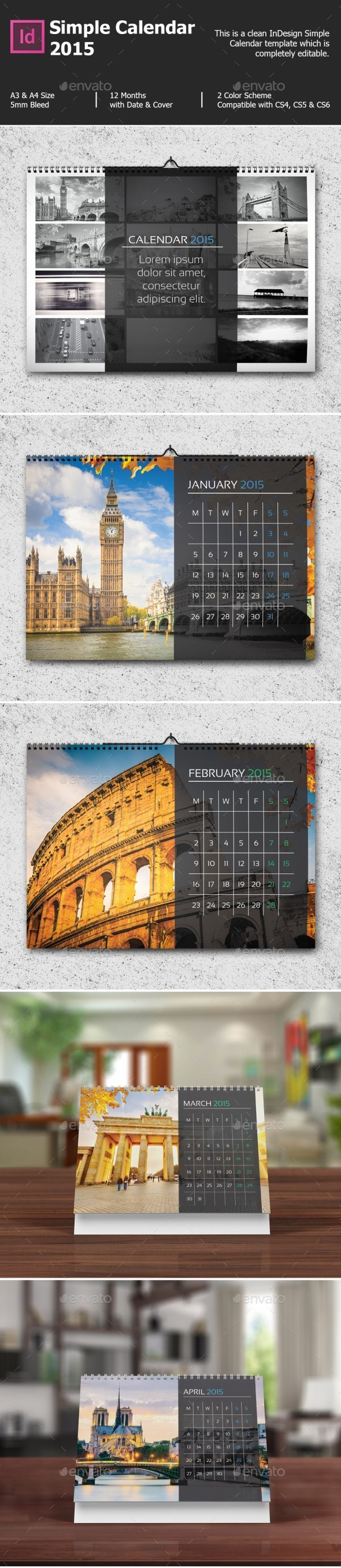 GraphicRiver Simple Calendar 2015 9068848
