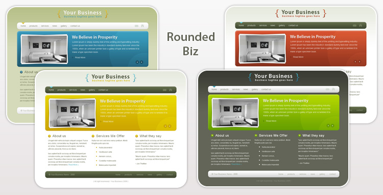 Rounded Biz - Professional Business Template