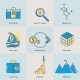 Flat Icons Set of Business Processes