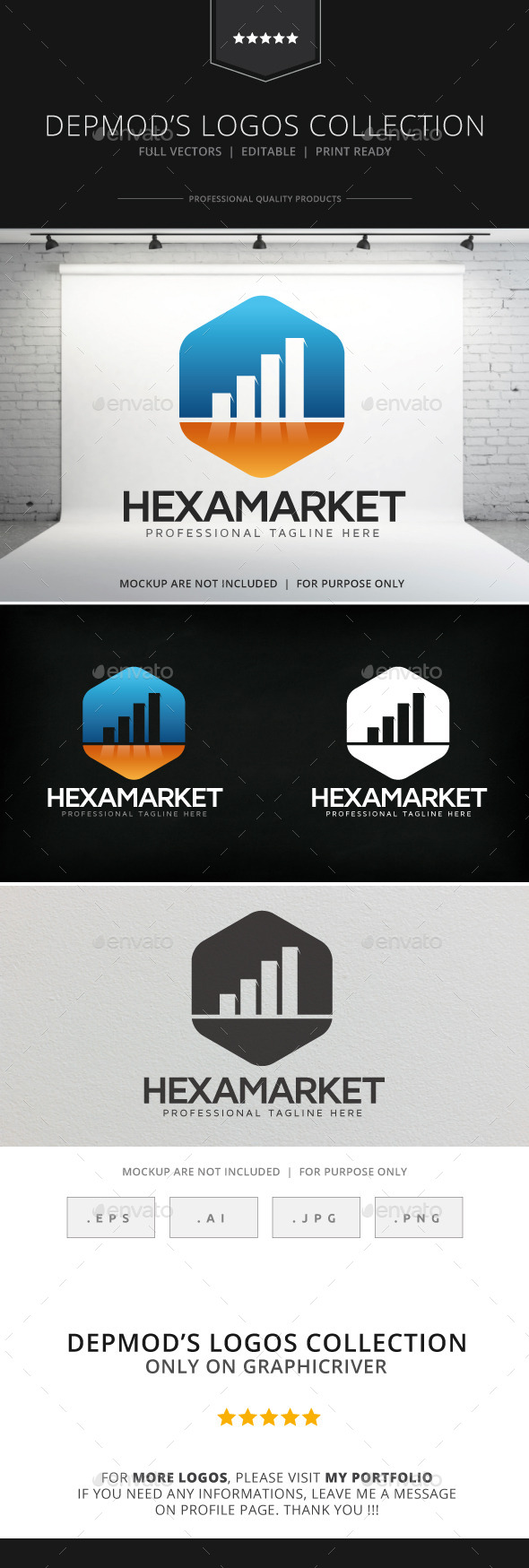 GraphicRiver Hexa Market Logo 9069068