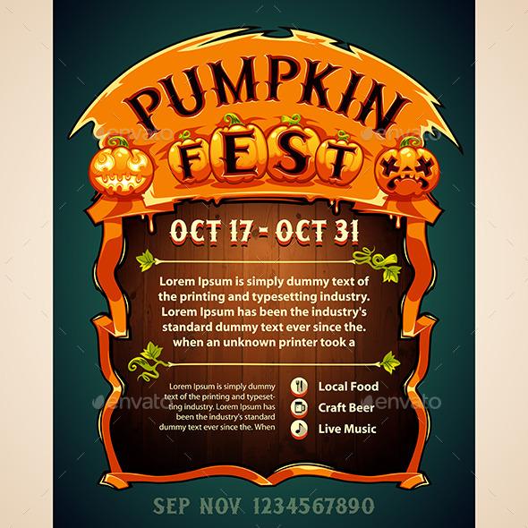 GraphicRiver Pumpkin Fest Poster 9066746