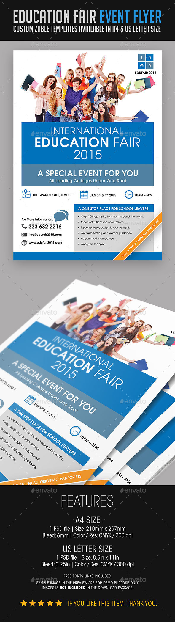 GraphicRiver Education Fair Event Flyer 9053628