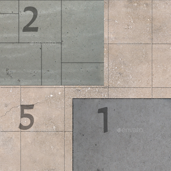 11 Seamless Concrete Textures - 3DOcean Item for Sale