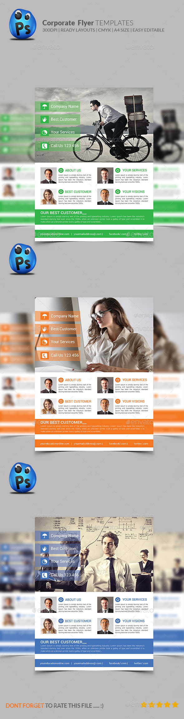 GraphicRiver Corporate Business Flyer Template 9069837