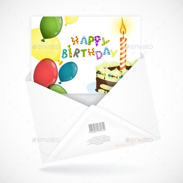 GraphicRiver Postal Envelopes With Greeting Card 9069895