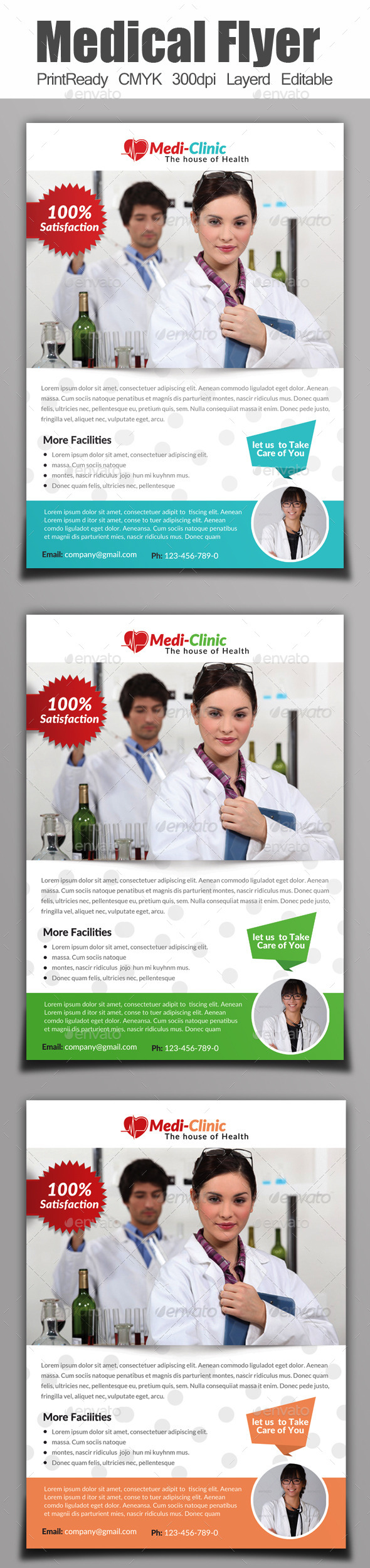 GraphicRiver A4 Medical Flyer 9069915