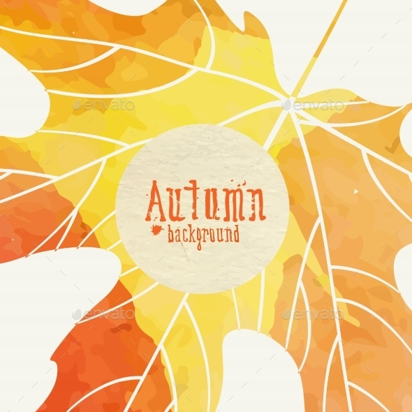 GraphicRiver Simple Autumn Background 9069936