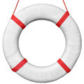 Old vintage lifebuoy isolated on a white background - PhotoDune Item for Sale