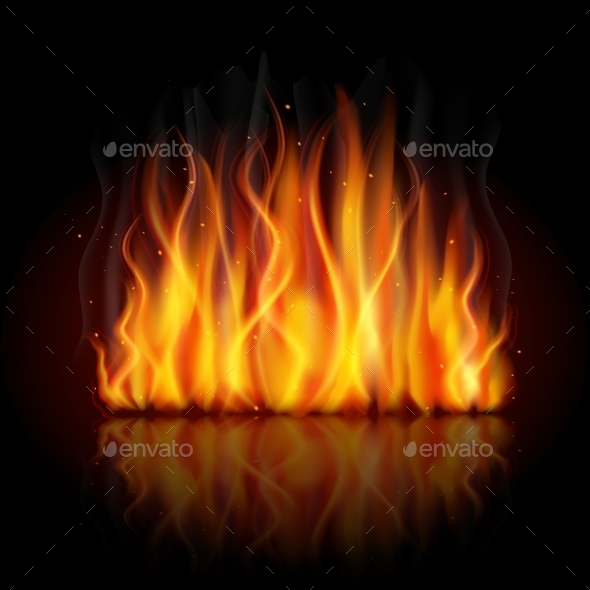 GraphicRiver Burning Flame Background 9069984