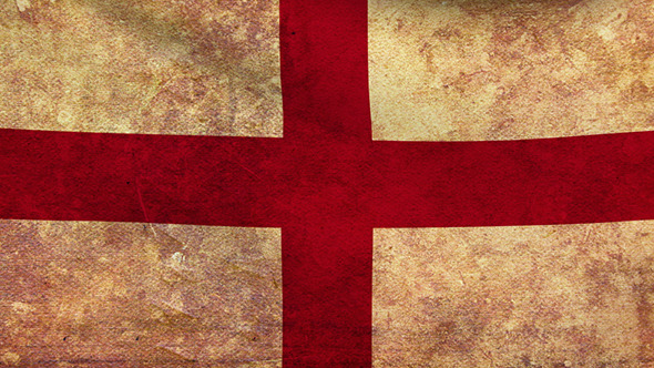 England Flag 2 Pack Grunge and Retro