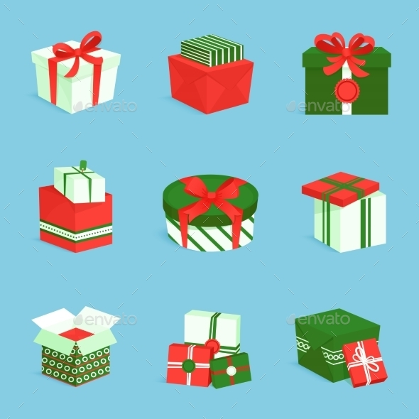 GraphicRiver Gift Box Icons Set 9069989