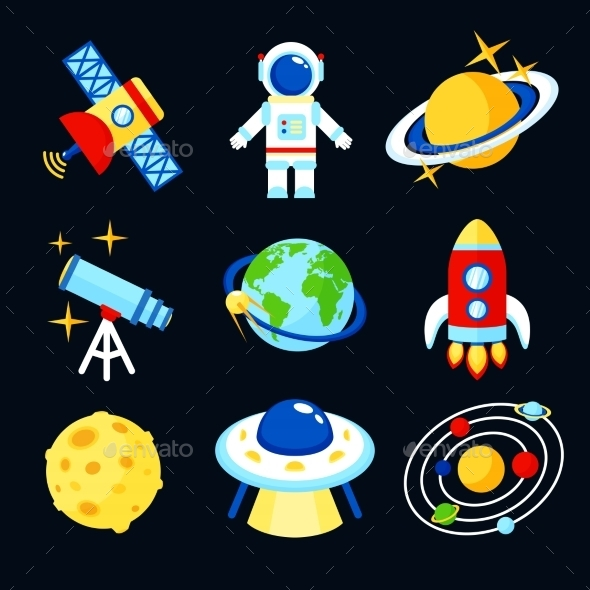 GraphicRiver Space Icons Set 9069996