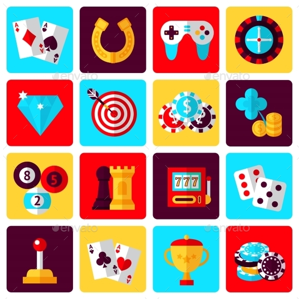 GraphicRiver Game Icons Set 9069998