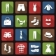 Clothes Icons Set Flat - GraphicRiver Item for Sale