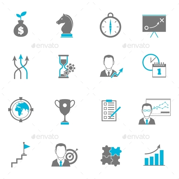 GraphicRiver Business Strategy Planning Icons 9070003