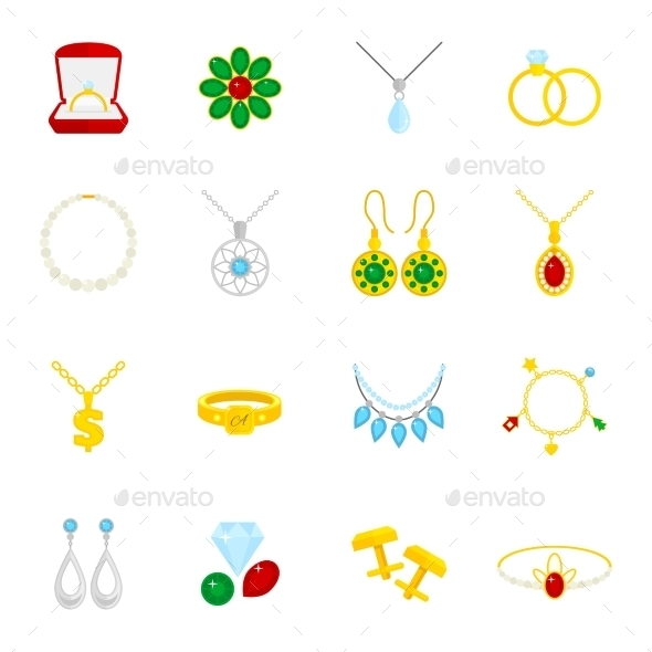 GraphicRiver Jewelry Icon Flat 9070005