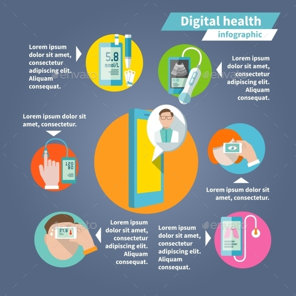 GraphicRiver Digital Health Infographics 9070012
