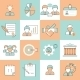 Business Management Icons Flat Line - GraphicRiver Item for Sale