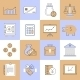 Finance Icons Set Flat Line - GraphicRiver Item for Sale
