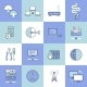 Network Icons Set Flat Line - GraphicRiver Item for Sale