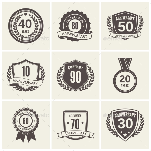 Anniversary Label Set