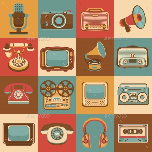 GraphicRiver Retro Media Icons 9070052