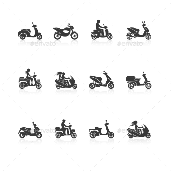 GraphicRiver Scooter Icons Set 9070053