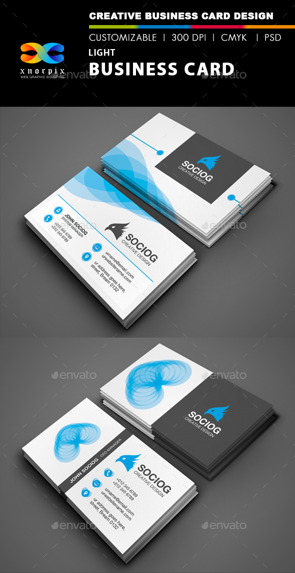 GraphicRiver Light Business Card 9070066
