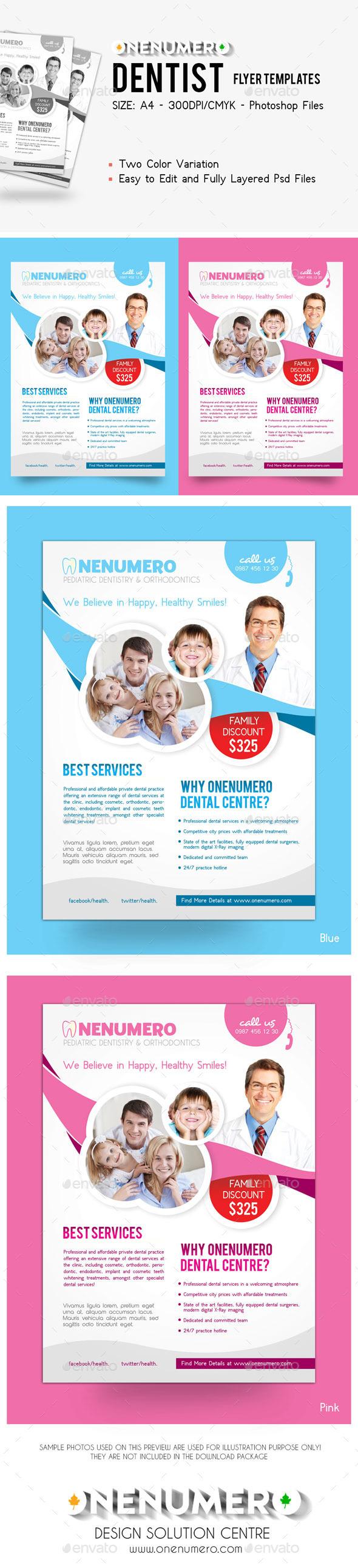 GraphicRiver Dentist Flyer Template 9020898