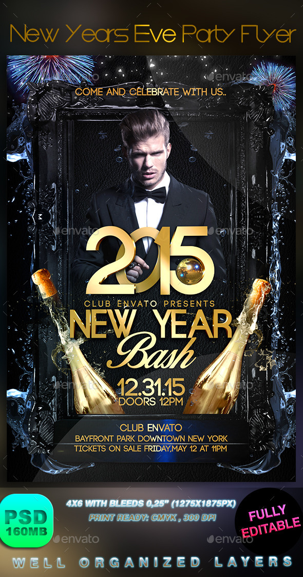 GraphicRiver New Years Eve Party Flyer 9070370