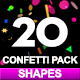 20 Confetti Pack Shapes - VideoHive Item for Sale