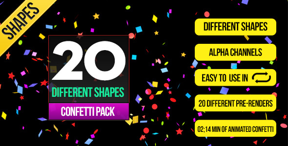20 Confetti Pack Shapes