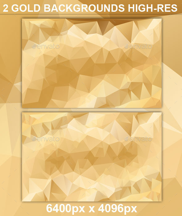 GraphicRiver Gold Polygonal Backgrounds High Resolution 9070443