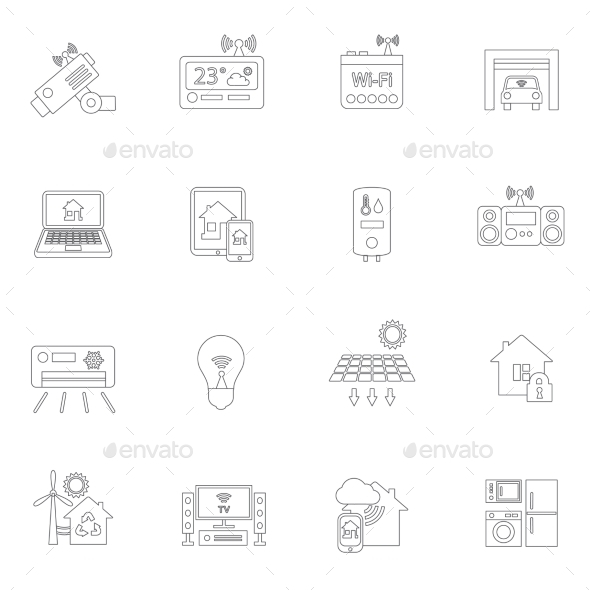 GraphicRiver Smart Home Icons Outline 9070772