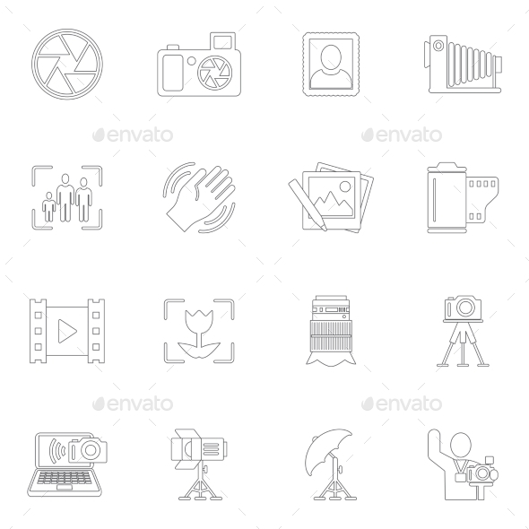 GraphicRiver Photography Icons Outline 9070784