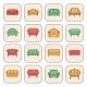 Sofa Icon Set - GraphicRiver Item for Sale