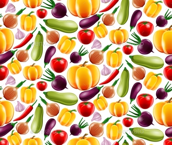 GraphicRiver Vegetables Seamless Pattern 9070890