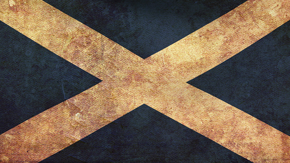 Scotland Flag 2 Pack Grunge and Retro