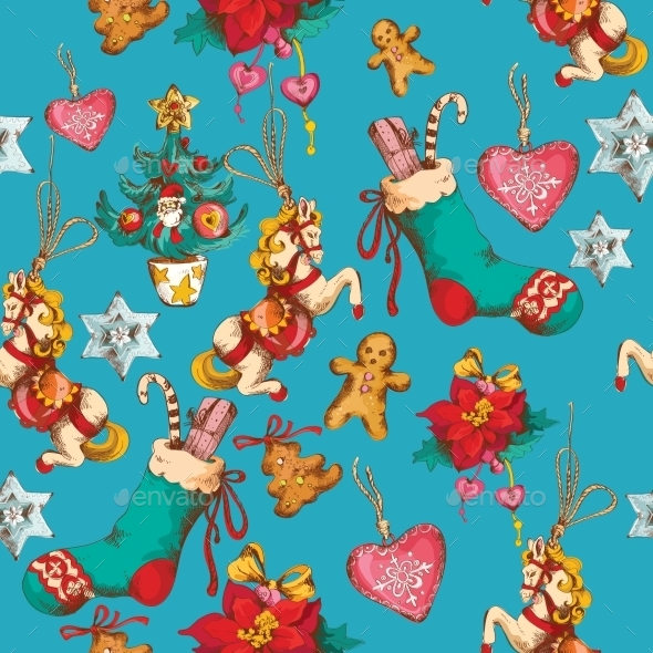 GraphicRiver Christmas Seamless Pattern 9071027