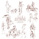 Urban People Sketch - GraphicRiver Item for Sale
