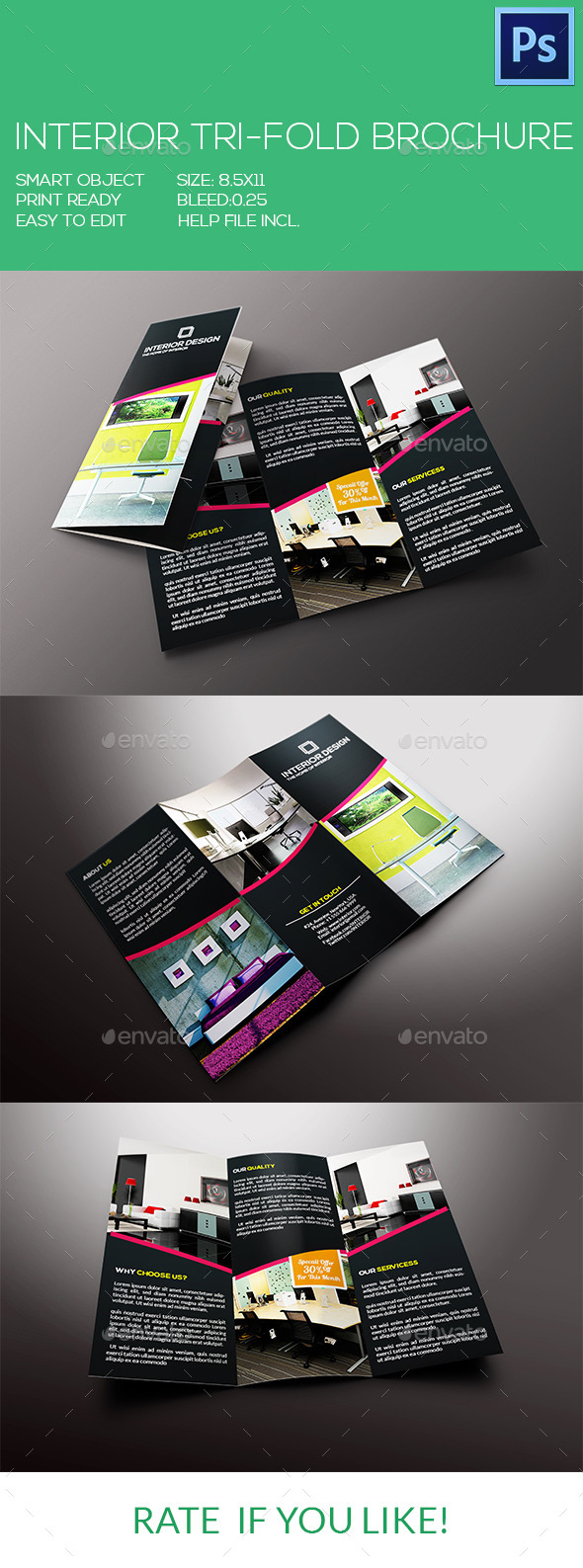 GraphicRiver Interior Tri-Fold Brochure 9071067