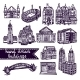 Sketch City Building Set - GraphicRiver Item for Sale