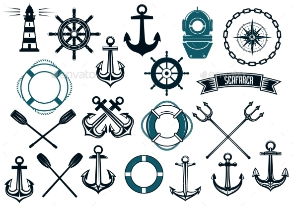 GraphicRiver Nautical Themed Design Elements 9071315